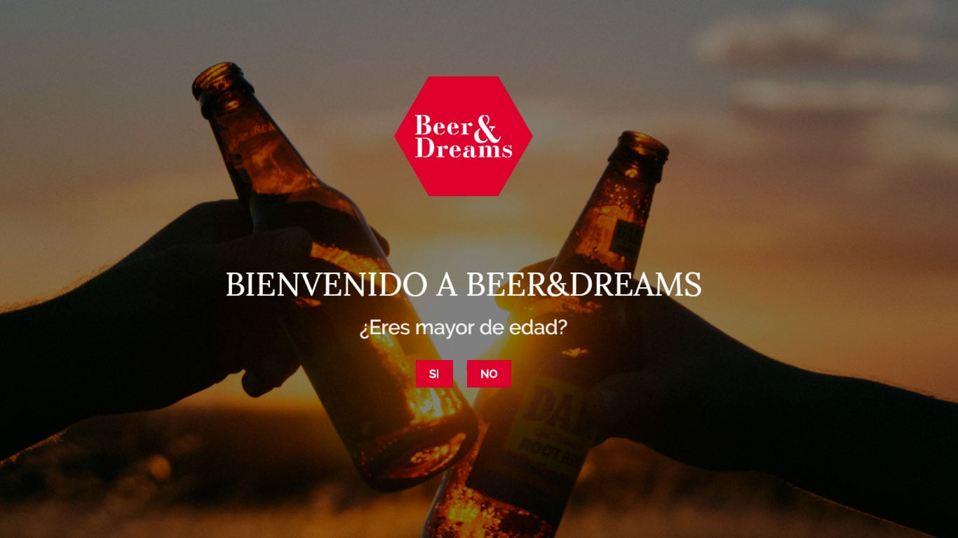Beer&Dreams mockup web slider| Proyecto Löwin designs
