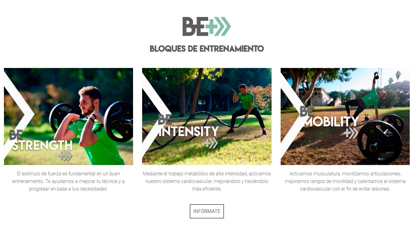 Be+ mockup web screen | Prototipo Löwin designs